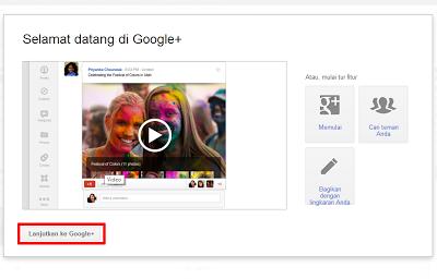 Cara Membuat Akun Google Plus